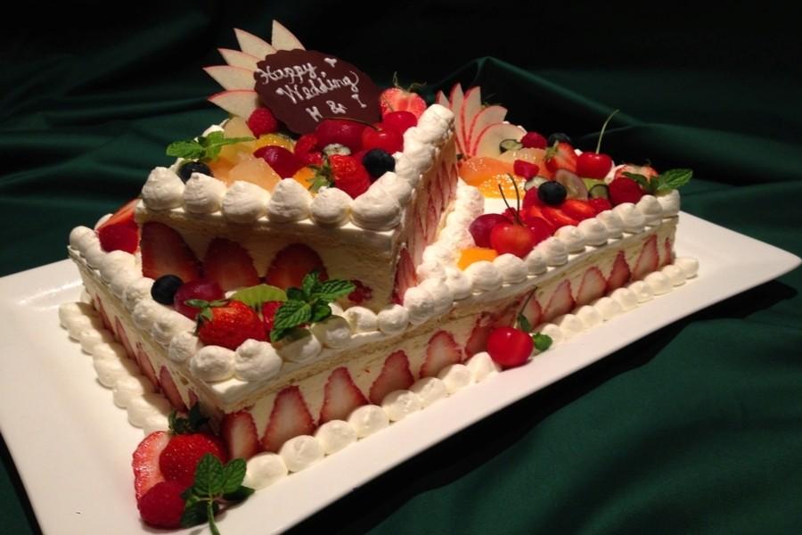全てのプランにオリジナル生ケーキがついてきます♪