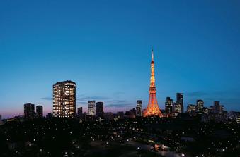 東京タワー、お台場、みなとみらいの夜景が一望できる