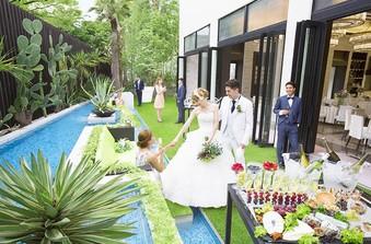 【ガーデン】ゲストと近い距離で会話を楽しめるガーデンパーティー