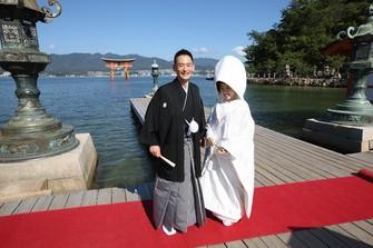 宮島・厳島神社の挙式もトータルプロデュース可能。