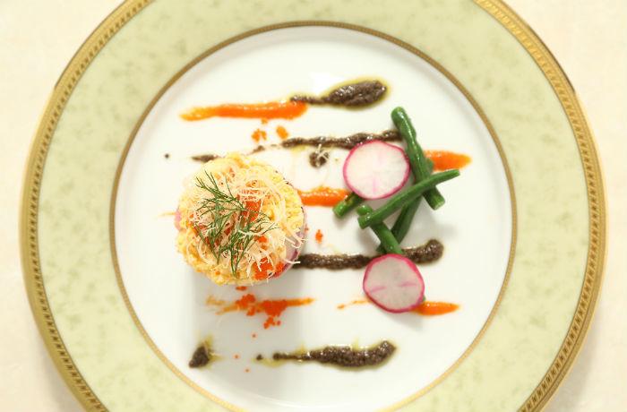 大事なお料理は、野菜中心で見た目も鮮やか!