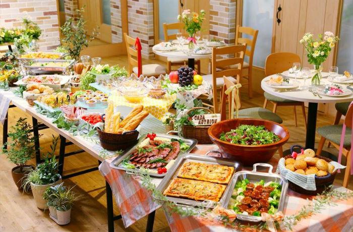 『ビュッフェ料理』色鮮やかで味わい深い創作フレンチビュッフェ