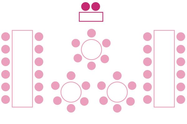円卓+長テーブル