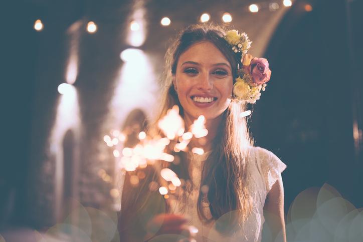 ナイトウエディングの花嫁