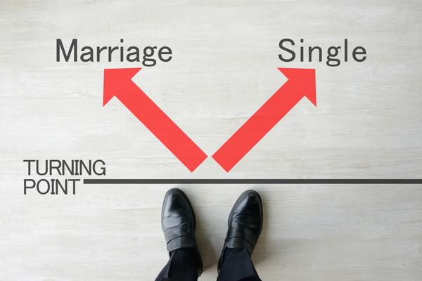結婚か独身か