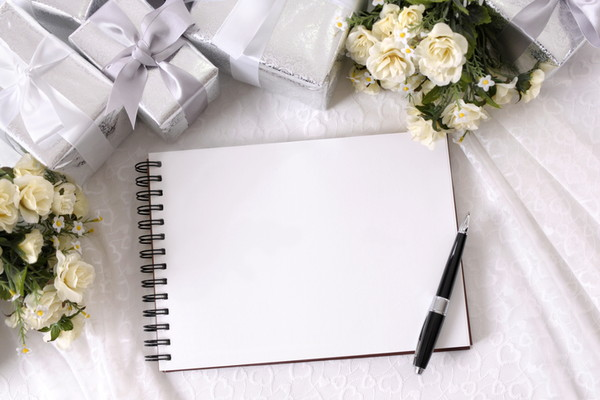 メッセージを書くノート